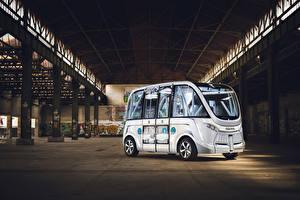 Обои Автобус Белый 2015-17 Navya Arma Автомобили картинки