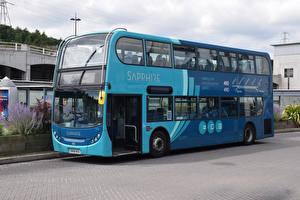 Обои Автобус Голубой