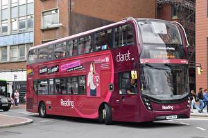 Картинки Автобус Бордовый Авто