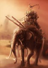 Картинки Слоны Фэнтези