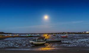 Фотографии Англия Вечер Река Лодки Солнце Dorset Природа