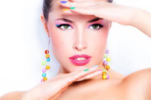 Картинки Лицо Мейкап Смотрит Модель Красивые Девушки