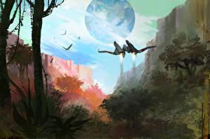 Обои Фантастический мир Космолет No Man's Sky Игры Фэнтези