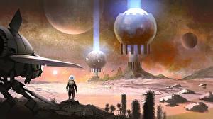 Картинка Фантастический мир Звездолёт No Man's Sky Игры