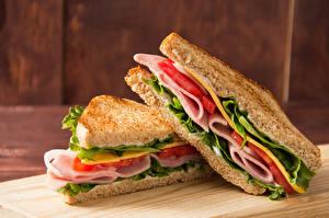 Фотография Фастфуд Бутерброды Хлеб 2 Еда