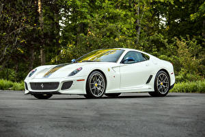 Обои Феррари Белый 2010-12 599 GTO Pininfarina Авто