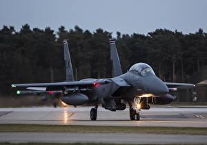 Обои Самолеты Истребители Бомбардировщик F-15E, Strike Eagle, McDonnell Douglas