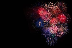 Фото Салют Новый год Черный фон