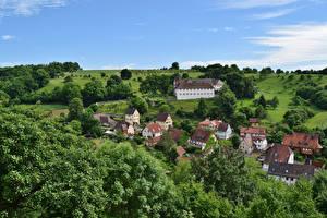 Картинки Германия Здания Steinbach Города