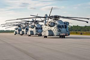 Обои Вертолеты Американские Sikorsky, CH-53K Авиация картинки