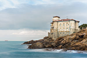Фотография Италия Замки Берег Boccale Castle