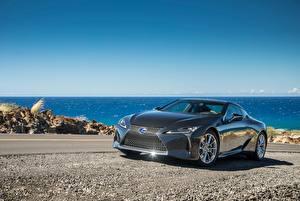 Обои Лексус Серый Металлик 2018 LC 500h Автомобили