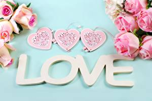 Обои Любовь Розы Слово - Надпись Английский