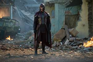 Картинки Мужчины Майкл Фассбендер Люди Икс: Апокалипсис Кино
