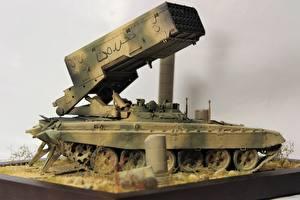 Фотографии Ракетные установки Игрушки Syrian Arab Republic, TOS 1-A, Opposition Армия