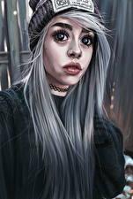 Фотографии Рисованные Волосы Взгляд Ужасные Девушки