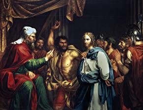 Фотографии Живопись Мужчины Jose Madraso, Jesus in the House of Kaifa