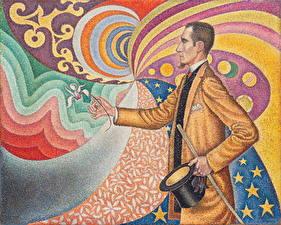 Фотография Картина Мужчины Paul Signac, Portrait de Felix Feneon