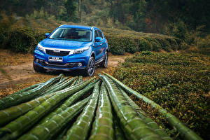 Картинка Дождь Китайские Синий 2016 Qoros 5 Автомобили