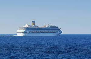 Обои Море Корабли Круизный лайнер