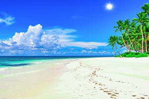 Фото Небо Берег Море Тропики Пляж Облака Природа
