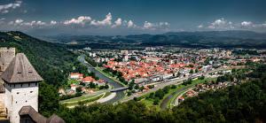 Картинки Словения Здания Celje Города