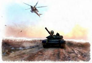Фотографии Танки Вертолеты Рисованные Русские Syria Армия