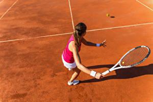 Картинки Теннис Тренировка Девушки