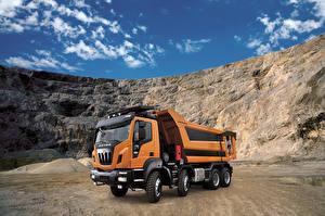 Картинки Грузовики Оранжевый 2015-17 Astra HD9 84.50 8×4 Машины