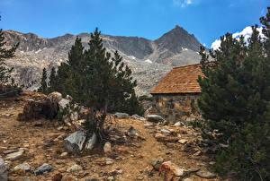 Обои США Горы Камни Калифорния Bishop Природа