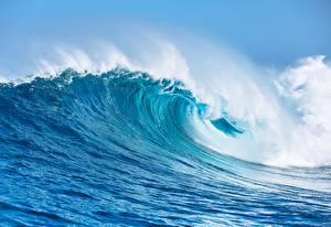 Фотография Волны Океан Крупным планом Природа