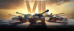 Фото World of Tanks Танки Русские Немецкий Британский 7 years Игры