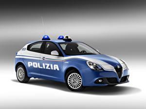 Фотографии Alfa Romeo Тюнинг Полицейские 2016 Giulietta Polizia машины