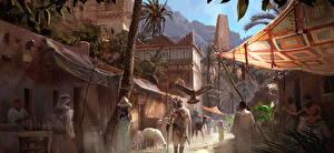 Фото Assassin's Creed Origins Мужчины Египет Улица Игры
