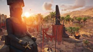 Картинка Assassin's Creed Origins Рассвет и закат Египет Игры