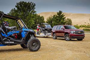 Обои Шевроле Бордовый Металлик 2018 Tahoe LS  Custom Автомобили