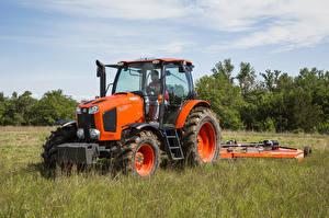 Фото Поля Сельскохозяйственная техника Трактор Оранжевый 2015-17 Kubota M6-141