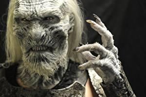 Картинка Игра престолов (телесериал) Пальцы Лицо Руки white walkers Фэнтези