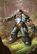 Фотография Hearthstone: Heroes of Warcraft Гномы Доспехи Улыбка Фэнтези