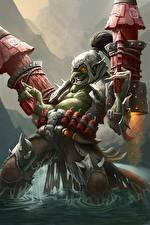 Фотографии Hearthstone: Heroes of Warcraft Воины Гоблины Фэнтези
