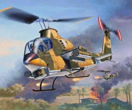 Картинка Вертолеты Рисованные Американские Армия
