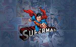 Картинка Герои комиксов Супермен герой
