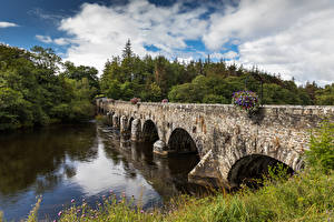 Картинка Ирландия Речка Мосты Beaufort Kerry Природа