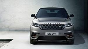 Картинки Range Rover Спереди Серый Velar Авто