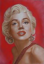 Обои Marilyn Monroe Рисованные Блондинка Взгляд Девушки