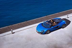 Фотография McLaren Кабриолет Синий 2017 570S Spider Worldwide Машины