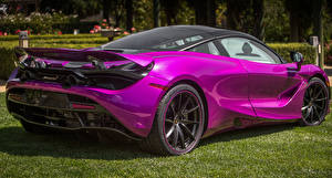 Фото Макларен Металлик Вид сзади Фиолетовых 2017 MSO 720S Coupe Fux Fuchsia машины