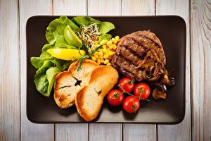 Обои Мясные продукты Хлеб Овощи Томаты Пища