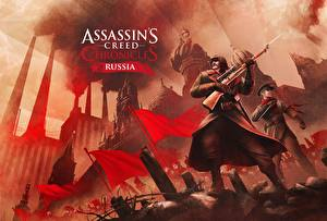 Обои Мужчины Солдаты Снайперская винтовка Assassin's Creed Chronicles Russia Игры