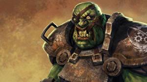 Фотографии Чудовище Fallout Повязка на глаз Броня super mutant Игры Фэнтези